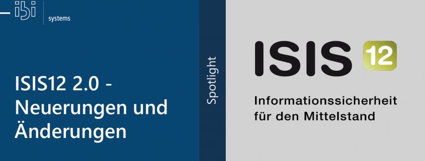 ISIS12 2.0 - Neuerungen und Änderungen