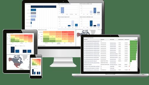 Screenshots aus der ISMS und GRC Software ibi systems iris